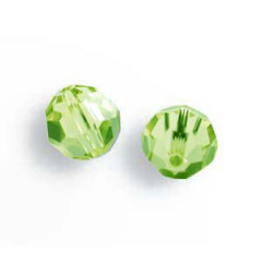 11285026P Bola pasante 8502/6mm Light Peridot Swarovski Crystal