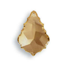11289015G Placa 8901/50x35mm Golden Teak Swarovski Crystal