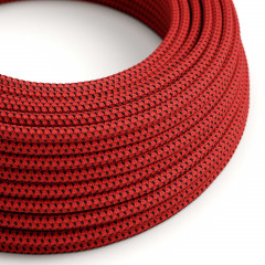 CAXZ3RT94 Cable manguera redonda 3G0,75 textil efecto 3D relieve Red Devil