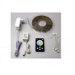 AD800804 Kit 5m Tira LED flexible Tcolor ajustable control remoto y alimentador