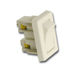 SK05013 Interruptor rectangular. Blanco