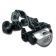 SK09000 Linterna frontal 8 Led ajustable