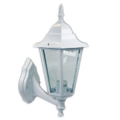 SK09129 Farol grande de pared jardín aluminio blanco up