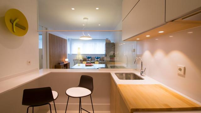 C mo iluminar las zonas de almacenaje de la cocina - Iluminacion para cocina comedor ...