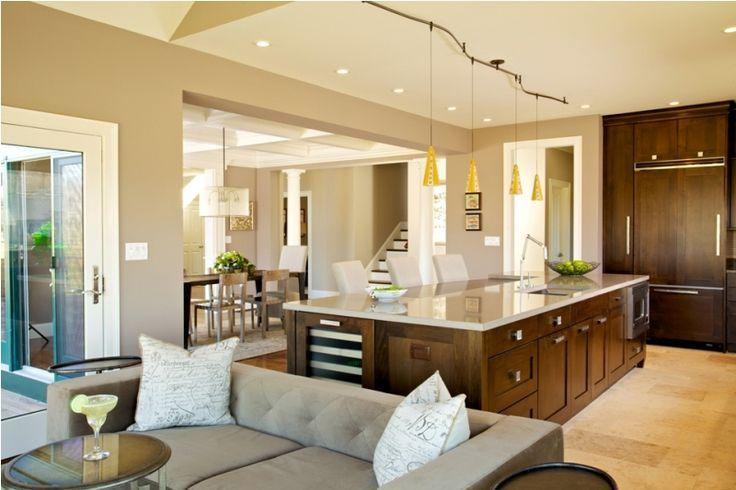 Qu es la iluminaci n por capas y c mo conseguirla - Kitchen dining room and living room all open ...