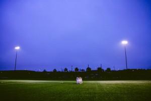 Iluminación en campos de fútbol