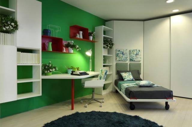 C mo iluminar un dormitorio juvenil krealo for Cuarto de estudio para adultos