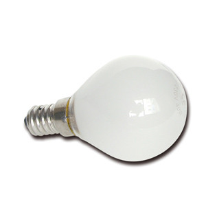 E241140 Ball lamp E14 120V 40W frosted