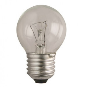 E232025R Ball lamp E27 230V 25W clear with reinforced filament