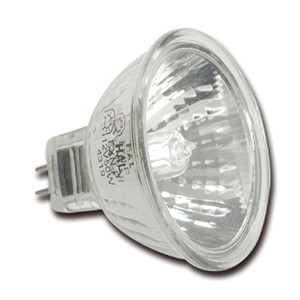 E235250 Dichroic covered lamp aluminum reflector MR16 50W
