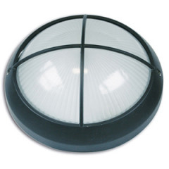 SK09118 Aluminum Wall bracket round with grating 100W black