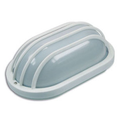SK09121 Polycarbonate Wall bracket oval grating horizont white 60W
