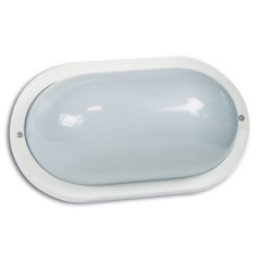SK09123 Polycarbonate Wall bracket oval white 60W