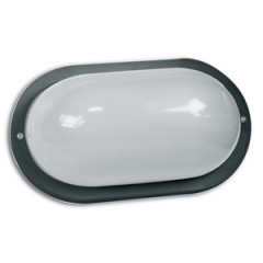 SK09124 Polycarbonate Wall bracket oval black 60W