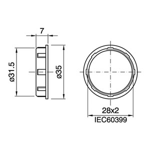 Bague thermoplastique E14 142 or