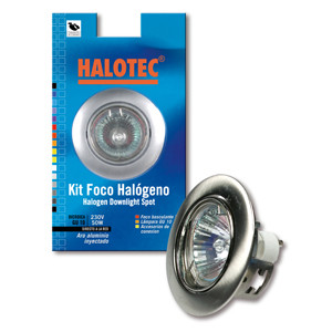 Kit spot halogène GZ-10 orientable nickel satiné