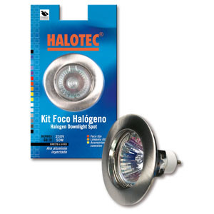 SK09155 Kit spot halogène GU-10 fixe nickel satiné