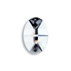 112810218 Ovale 8102/18mm 2 trous Swarovski Crystal