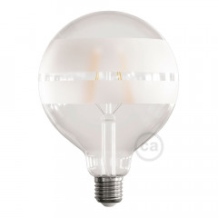 CBLEDSATURNC Ampoule Led Globe G125 E27 4W 2700K 420Lm Saturn Clear