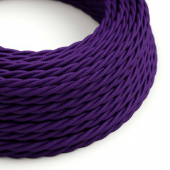 CAXZ2TM14 Twisted Cable 2x0,75 Textile Rayonne Violet solide