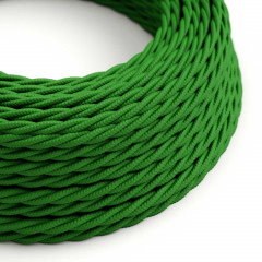 CAXZ2TM06 Twisted Cable 2x0,75 Textile Rayonne Vert solide
