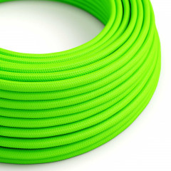 CAXZ3RF06 Fil électric rond  3G0,75 Textile Rayonne Vert Fluo solide