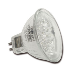 E249003 Lampe dichroïque 20 LED MR16 12V GU5.3 rouge