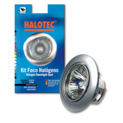 SK09151 Kit spot halogène GZ-10 orientable chrome satiné